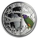 2019 Dominica 1 oz Silver Sisserou Parrot Proof (Colorized)