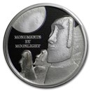 2019 Fiji 1 oz Silver Proof Monuments By Moonlight: Easter Island