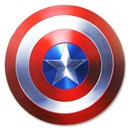 "2019 Fiji 10 gram Proof Silver Domed ""Captain America"" Shield"