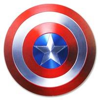 """2019 Fiji 10 gram Proof Silver Domed """"Captain America"""" Shield"""