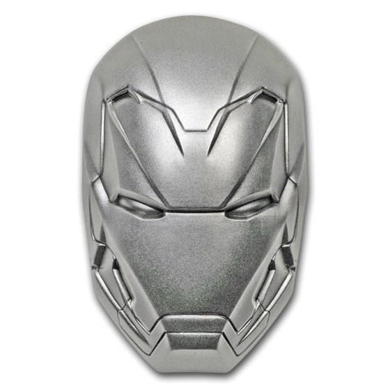 2019 Fiji 2 oz Ag Marvel Icon Series Iron Man Mask (Coin only)