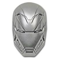 2019 Fiji 2 oz Silver Marvel Icon Series Iron Man Mask