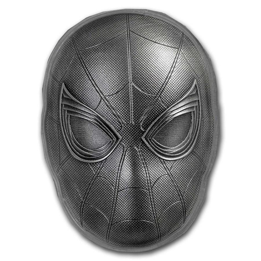 2019 Fiji 2 oz Silver Marvel Icon Series Spiderman Mask