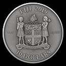 2019 Fiji 3 oz UHR Antique Finish Silver Mandala Art (Gothic)