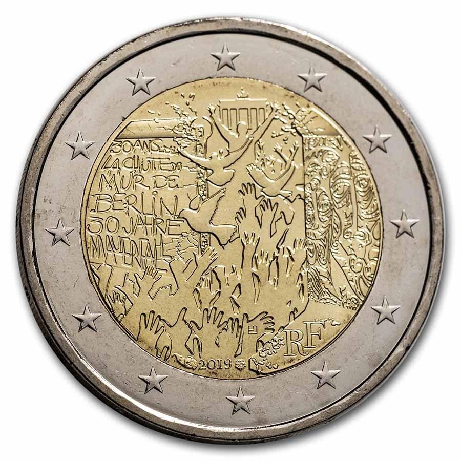 2019 France 2 Euro Fall of the Berlin Wall BU