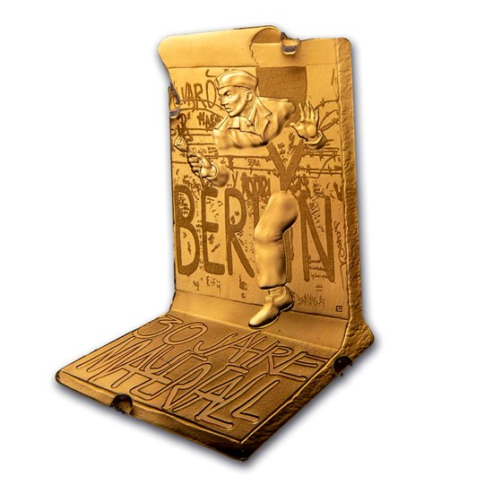2019 France Proof Gold €200 30th Ann. Fall of the Berlin Wall