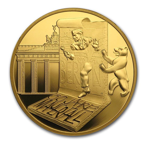 2019 France Proof Gold €50 30th Ann. Fall of the Berlin Wall