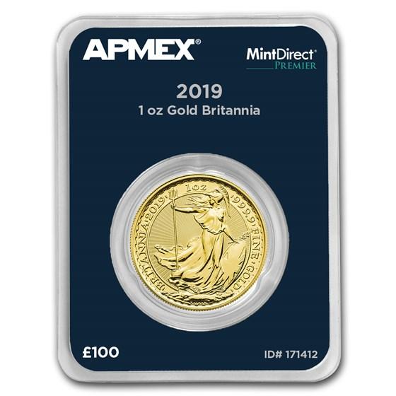 2019 GB 1 oz Gold Britannia (MintDirect® Premier Single)