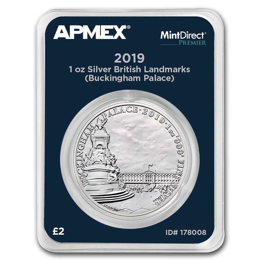 2019 GB 1 oz Silver Landmarks Buckingham Palace (MD® Premier)