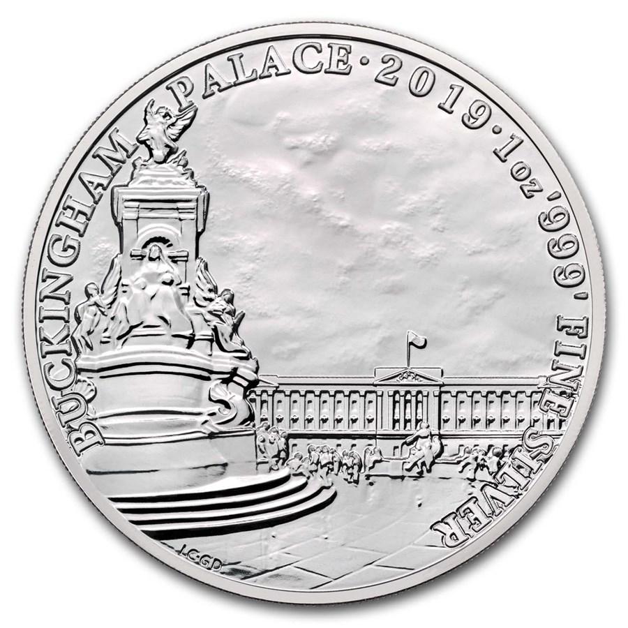 2019 GB 1 oz Silver Landmarks of Britain (Buckingham Palace)