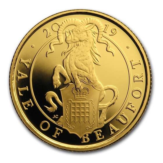 2019 GB Proof 1/4 oz Gold Queen's Beasts Yale (w/Box & COA)