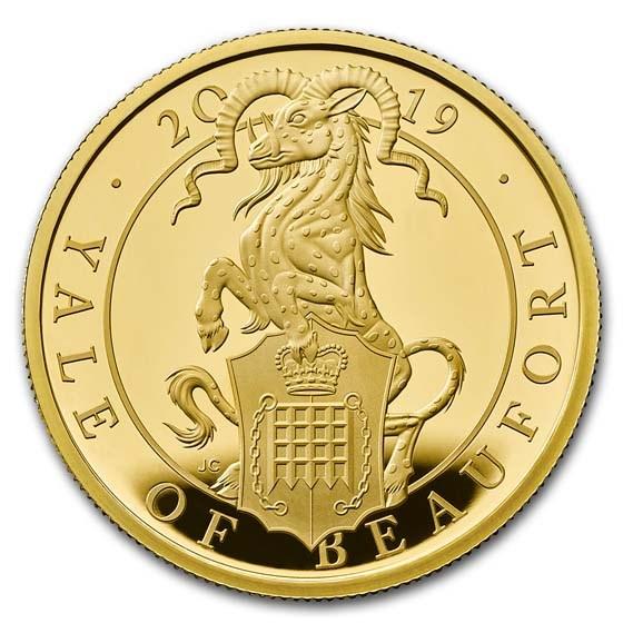 2019 GB Proof 1 oz Gold Queen's Beasts Yale (w/Box & COA)