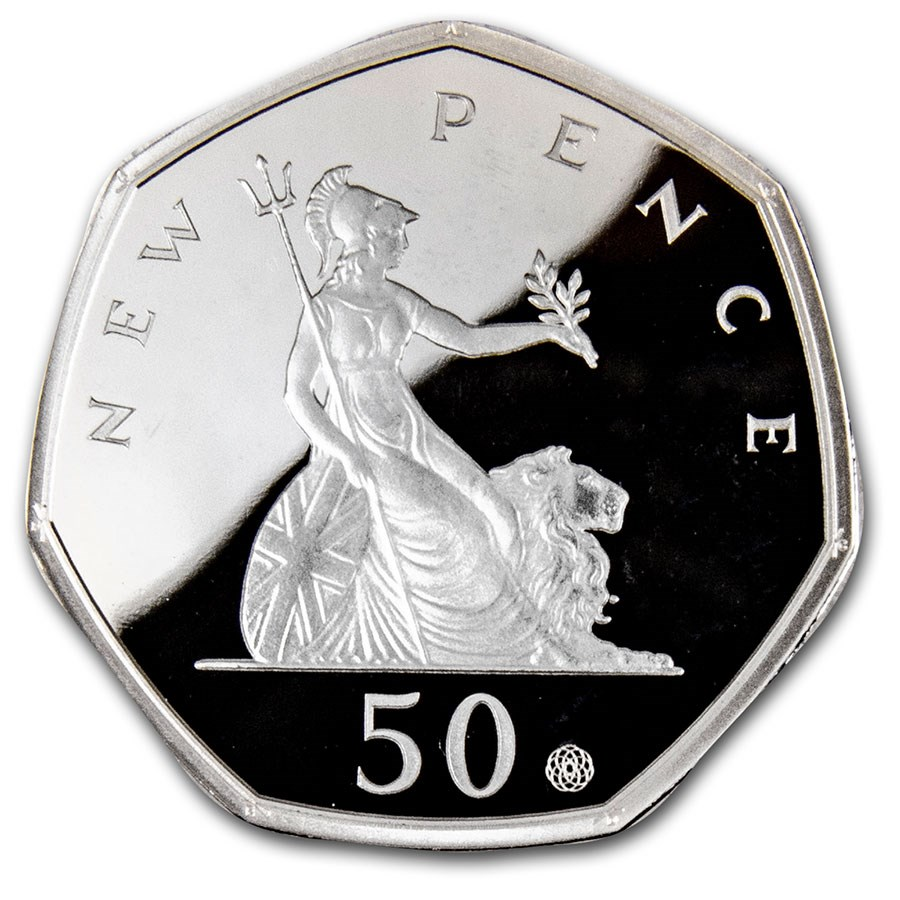 2019 GB Silver 50 pence 50 Year Anniversary Piedfort Proof