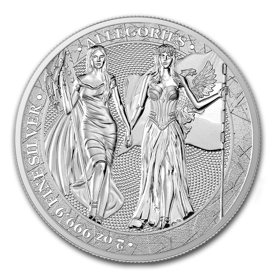2019 Germania Allegories 2 oz Silver Round BU (Columbia)