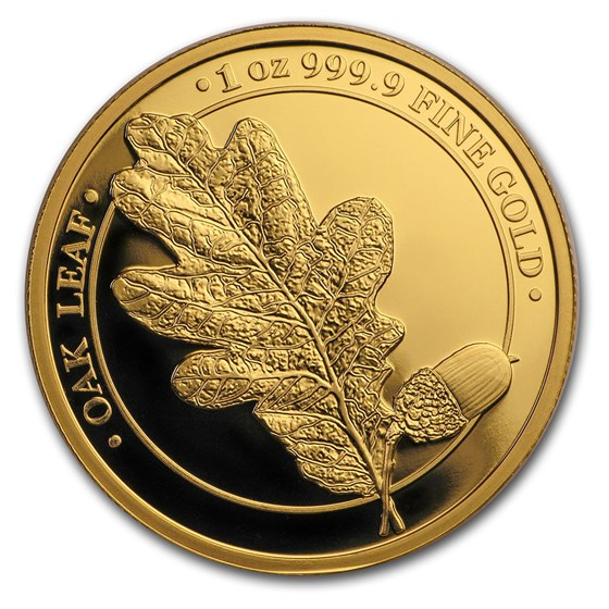 2019 Germania Gold Oak Leaf Proof Round (w/Box & COA)