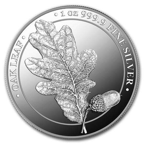 2019 Germania Silver Oak Leaf Proof Round (w/Box & COA)
