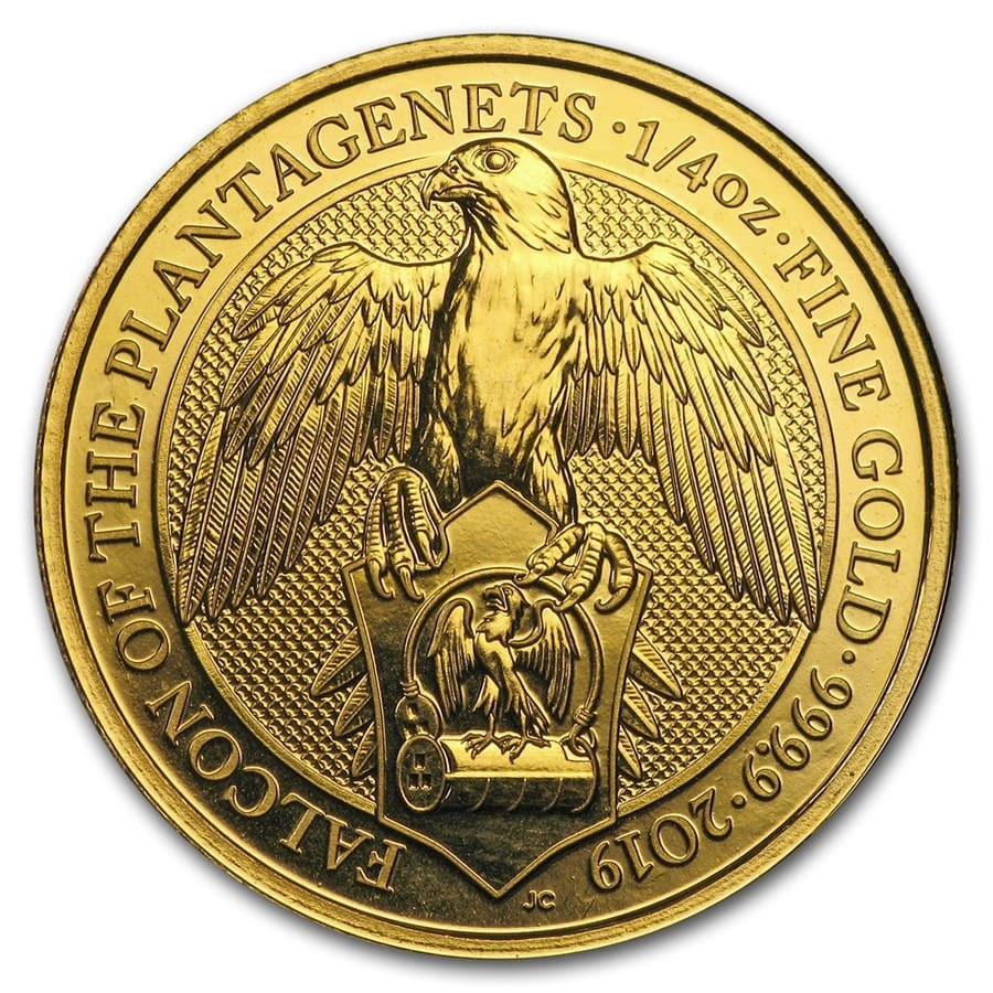 2019 Great Britain 1/4 oz Gold Queen's Beasts The Falcon