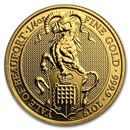 2019 Great Britain 1/4 oz Gold Queen's Beasts The Yale