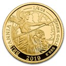 2019 Great Britain 1/4 oz Proof Gold Britannia