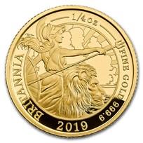 2019 Great Britain 1/4 oz Proof Gold Britannia