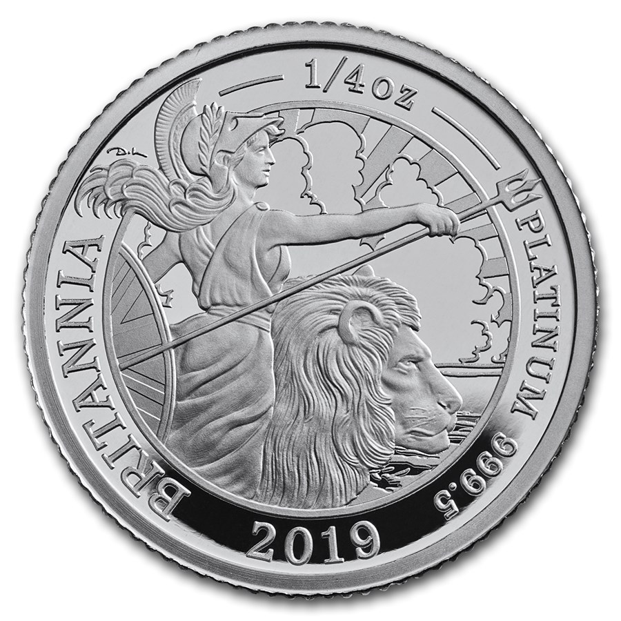 2019 Great Britain 1/4 oz Proof Platinum Britannia