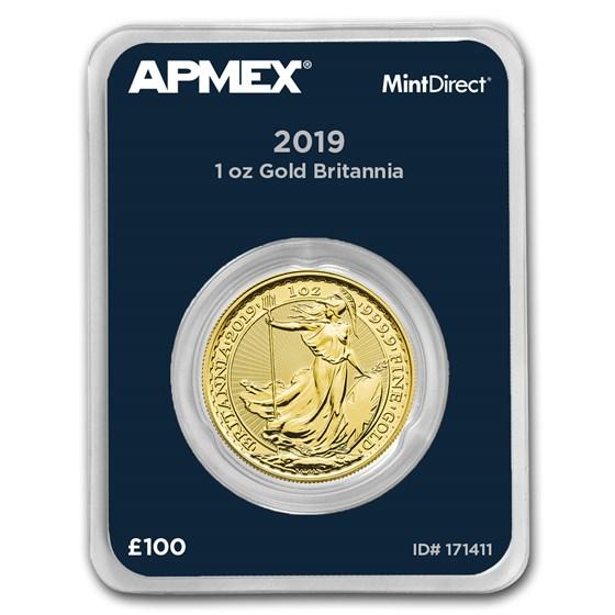 2019 Great Britain 1 oz Gold Britannia (MintDirect® Single)