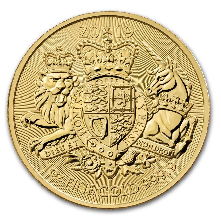 2019 Great Britain 1 oz Gold The Royal Arms BU