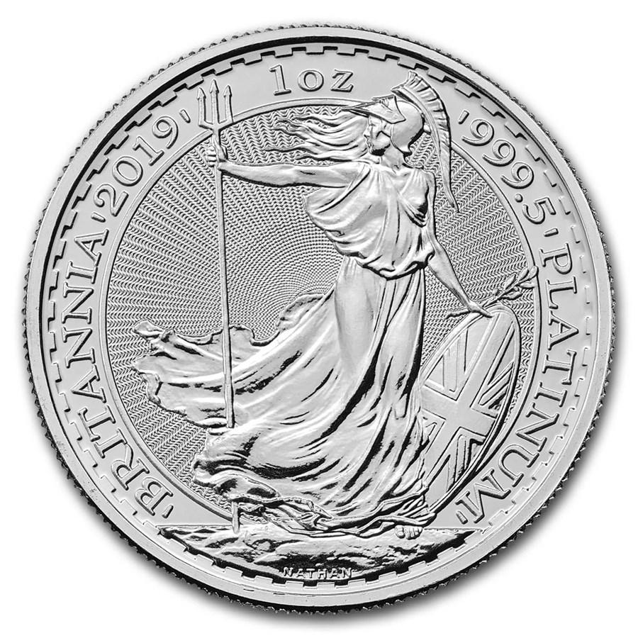 2019 Great Britain 1 oz Platinum Britannia BU