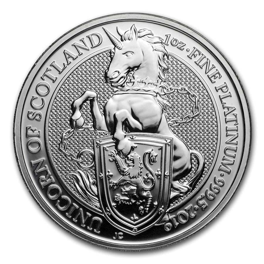 2019 Great Britain 1 oz Platinum Queen's Beasts The Unicorn