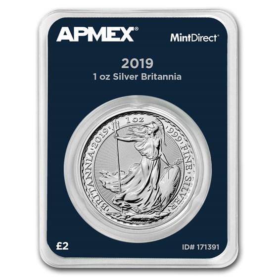 2019 Great Britain 1 oz Silver Britannia (MintDirect® Single)