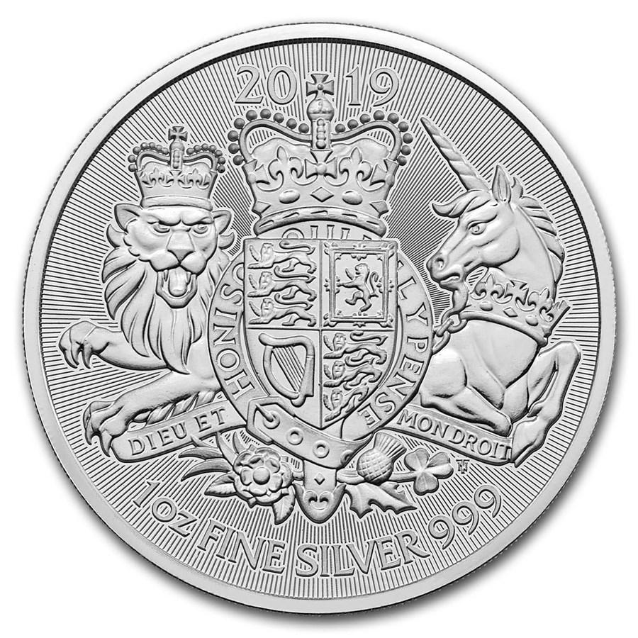 2019 Great Britain 1 oz Silver The Royal Arms BU