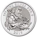 2019 Great Britain 1 oz Silver Valiant BU