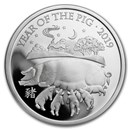 2019 Great Britain 1 oz Silver Year of the Pig Proof (Box & COA)