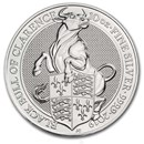 2019 Great Britain 10 oz Silver Queen's Beasts The Bull
