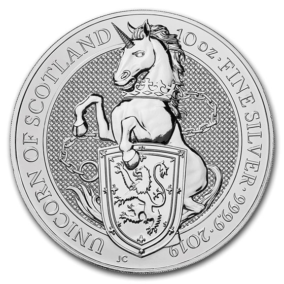 2019 Great Britain 10 oz Silver Queen's Beasts The Unicorn