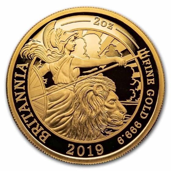 2019 Great Britain 2 oz Gold Proof Britannia