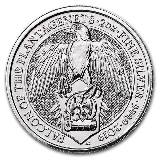 2019 Great Britain 2 oz Silver Queen's Beasts The Falcon