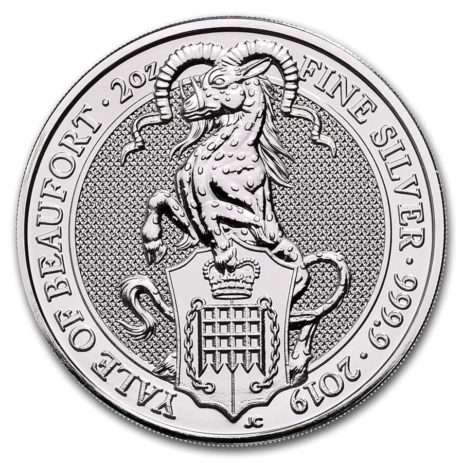 2019 Great Britain 2 oz Silver Queen's Beasts The Yale