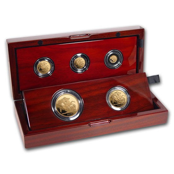 2019 Great Britain 5-Coin Gold Sovereign Proof Set