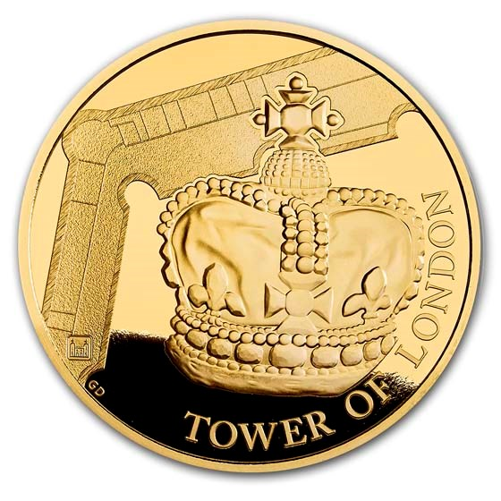 2019 Great Britain £5 Gold Proof The Crown Jewels