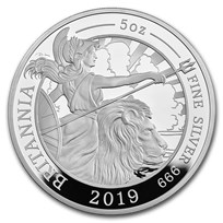 2019 Great Britain 5 oz Proof Silver Britannia