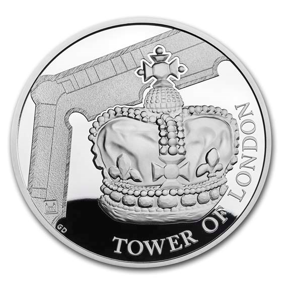 2019 Great Britain £5 Silver Proof The Crown Jewels