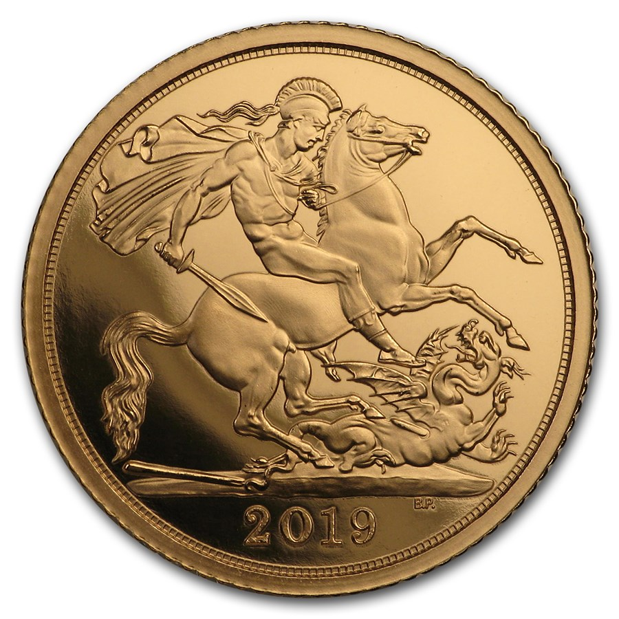 2019 Great Britain Gold 1/2 Sovereign Proof (w/Box & COA)