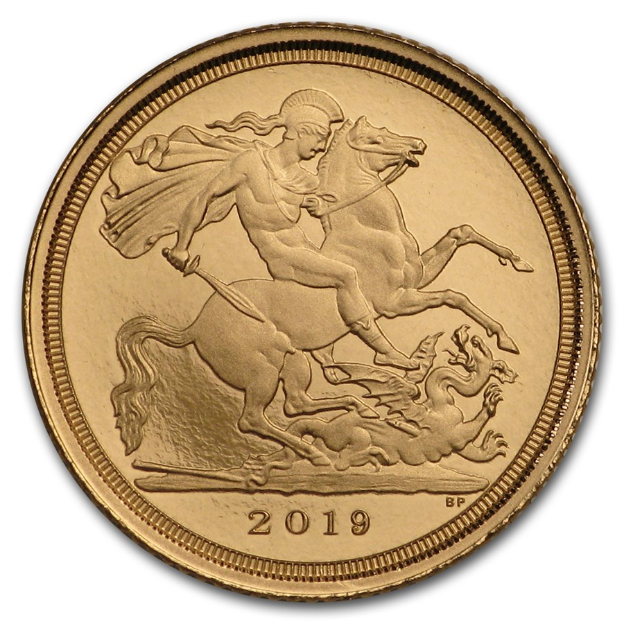 2019 Great Britain Gold 1/4 Sovereign Proof (w/Box & COA)