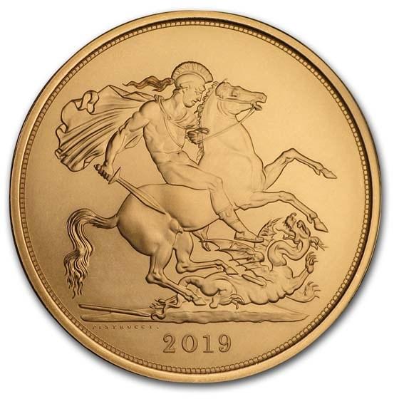 2019 Great Britain Gold 5 Sovereign BU