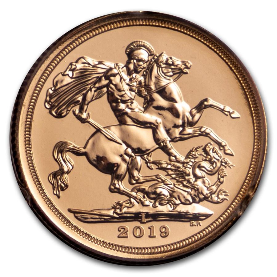 2019 Great Britain Gold Sovereign BU (Struck in India)