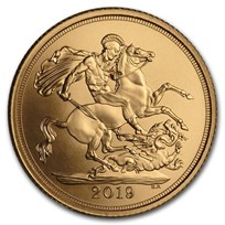 2019 Great Britain Gold Sovereign Matte BU