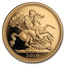 2019 Great Britain Gold Sovereign Proof (Piedfort)