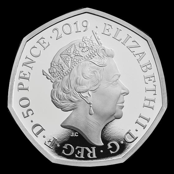 2019 Great Britain Silver 50p Proof Stephen Hawking