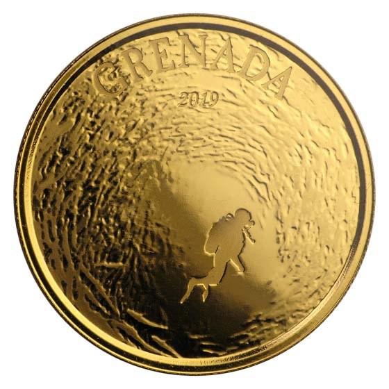 2019 Grenada 1 oz Gold Diving Paradise BU